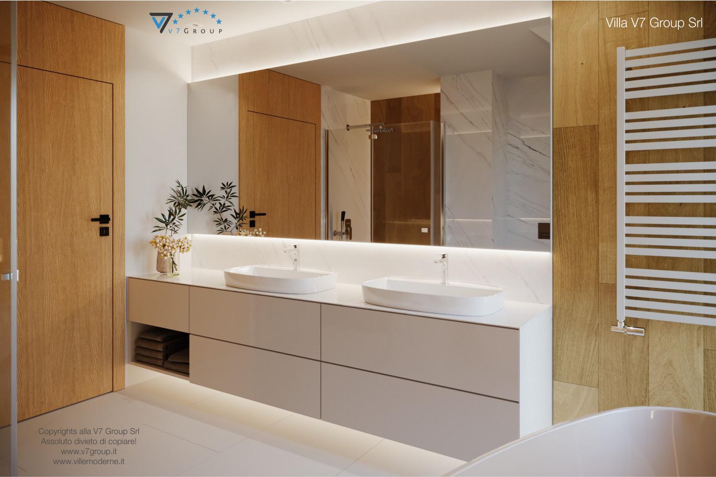 Immagine Villa V49 (progetto originale) - i lavandini e lo specchio grande