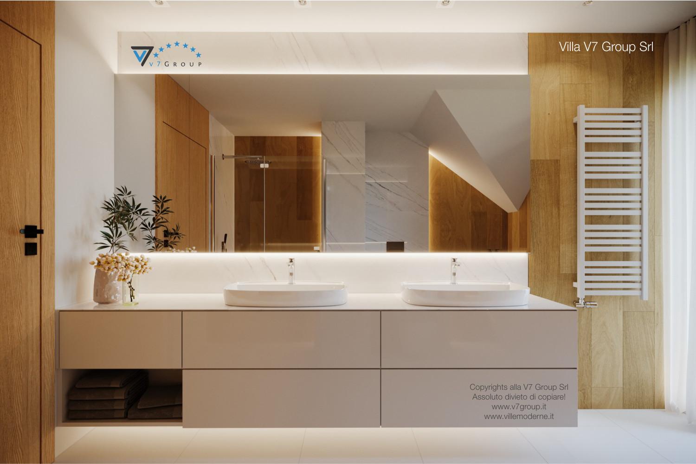 Immagine Villa V49 (progetto originale) - il design moderno del bagno