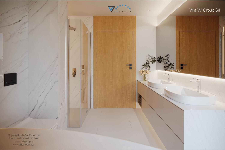 Immagine Villa V49 (progetto originale) - la porta marrone del bagno