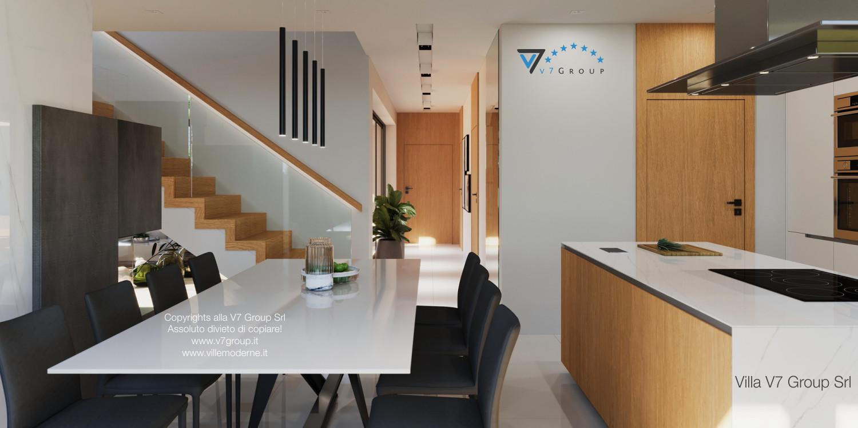 Immagine Villa V49 (progetto originale) - il tavolo bianco e le sedie
