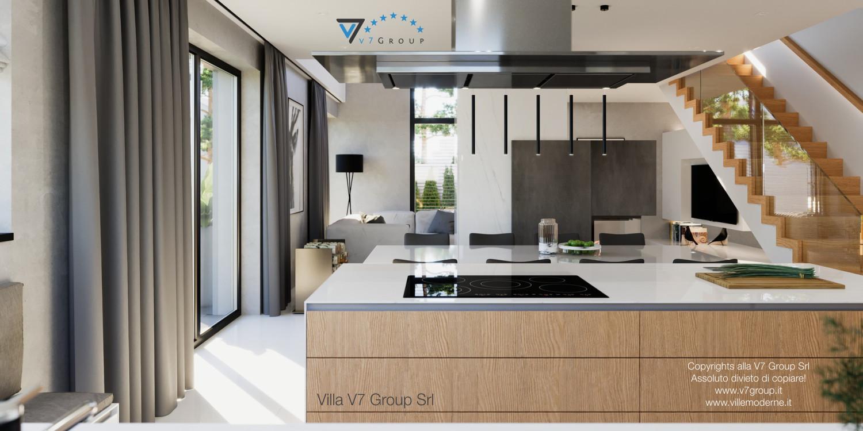 Immagine Villa V49 (progetto originale) - i mobili in legno in cucina