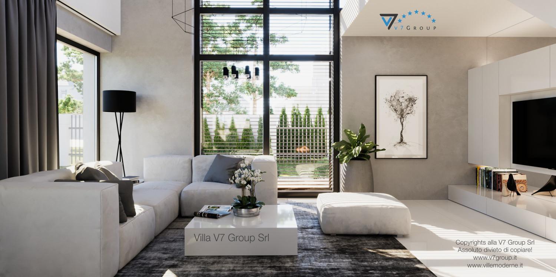 Immagine Villa V49 (progetto originale) - il grande soggiorno