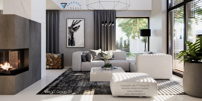Immagine Villa V49 (progetto originale) - il design del soggiorno