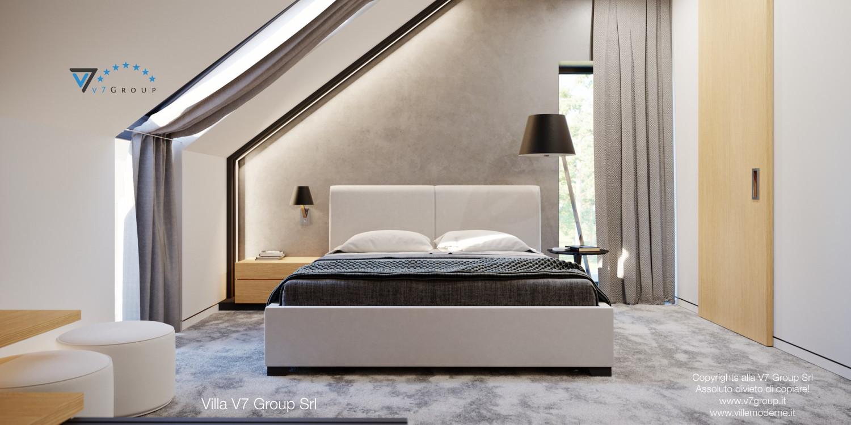 Immagine Villa V49 (progetto originale) - il letto al centro