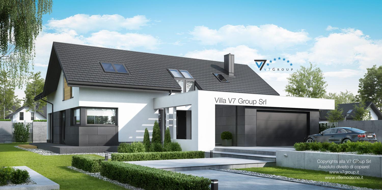 Immagine Villa V49 (progetto originale) - la parte frontale grande