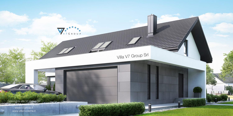 Immagine Villa V49 (progetto originale) - vista frontale laterale grande