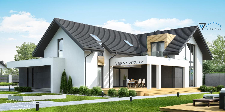Immagine Villa V49 (progetto originale) - il design del terrazzo