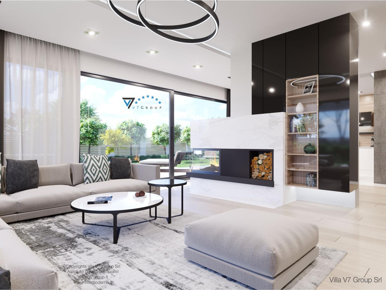 Immagine Villa V50 (progetto originale) - interno 2 - soggiorno