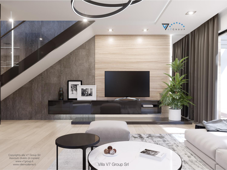 Immagine Villa V50 (progetto originale) - interno 3 - soggiorno e scale