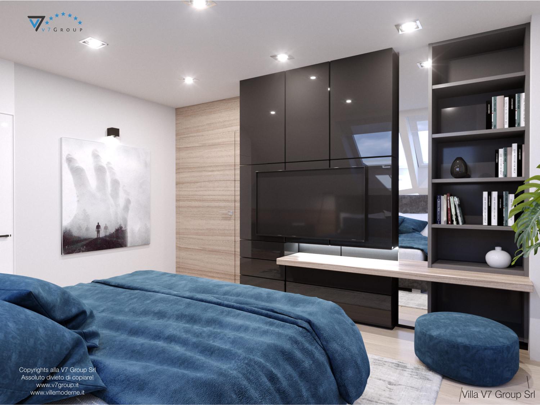 Immagine Villa V50 (progetto originale) - interno 8 - camera matrimoniale