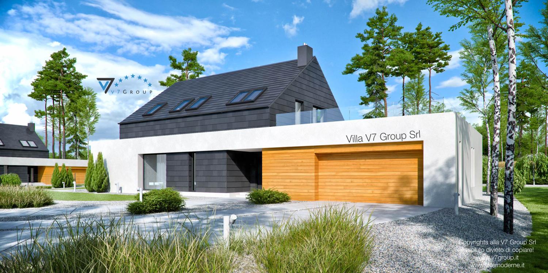 Immagine Villa V50 (progetto originale) - vista frontale garage grande