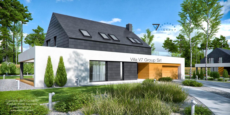 Immagine Villa V50 (progetto originale) - vista frontale laterale grande
