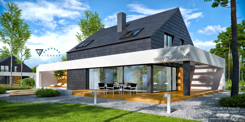 Immagine Villa V50 (progetto originale) - vista giardino grande