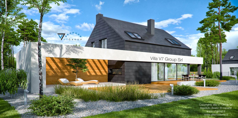 Immagine Villa V50 (progetto originale) - vista terrazzo esterno grande