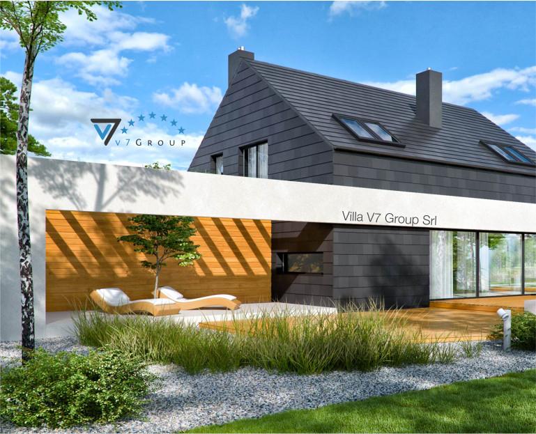 Immagine Villa V50 (progetto originale) - vista terrazzo esterno piccola
