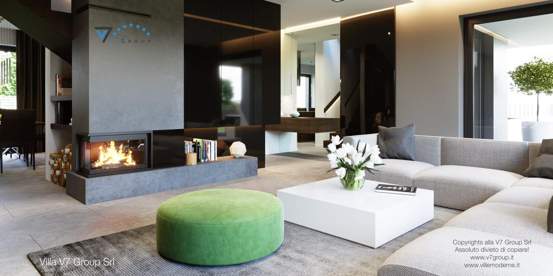Immagine Villa V51 (progetto originale) - interno 1 - soggiorno
