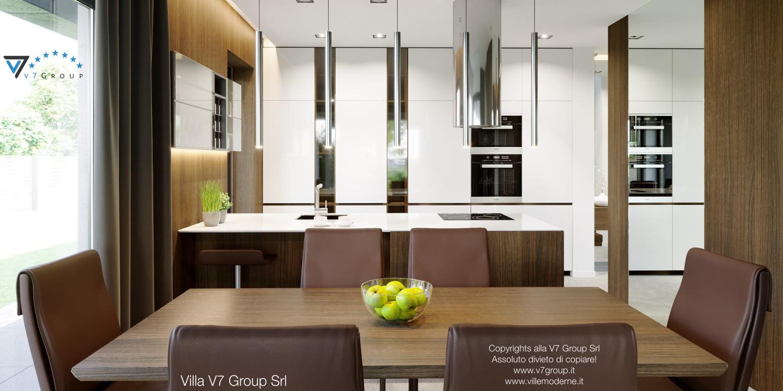 Immagine Villa V51 (progetto originale) - interno 10 - sala da pranzo e cucina