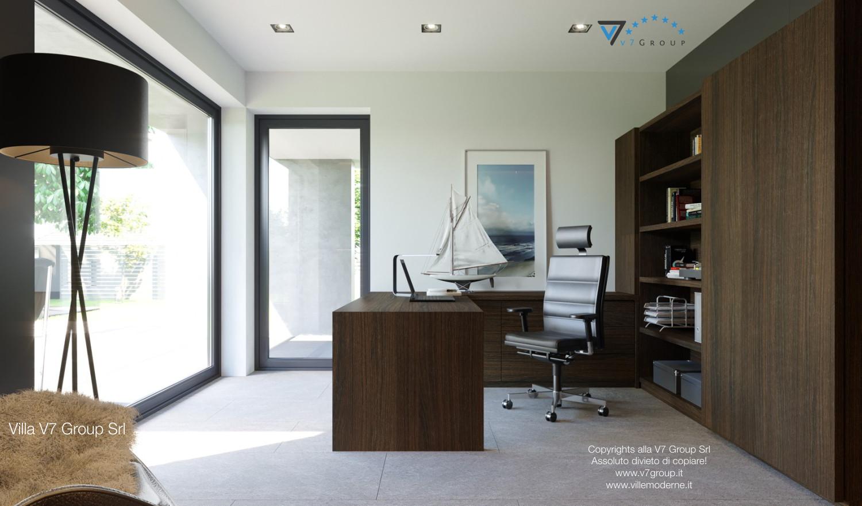 Immagine Villa V51 (progetto originale) - la sistemazione dello studio