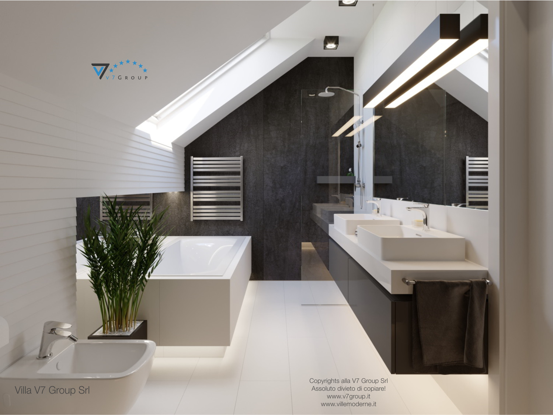 Immagine Villa V51 (progetto originale) - il bagno padronale