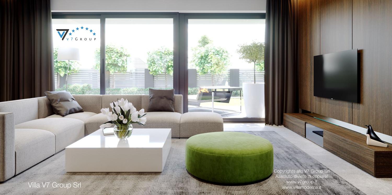Immagine Villa V51 (progetto originale) - interno 2 - soggiorno