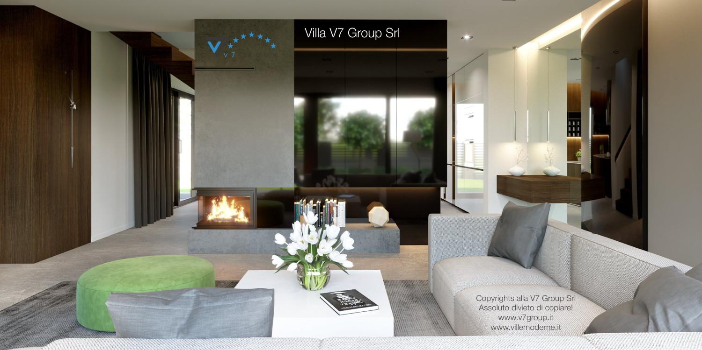Immagine Villa V51 (progetto originale) - la sistemazione del soggiorno