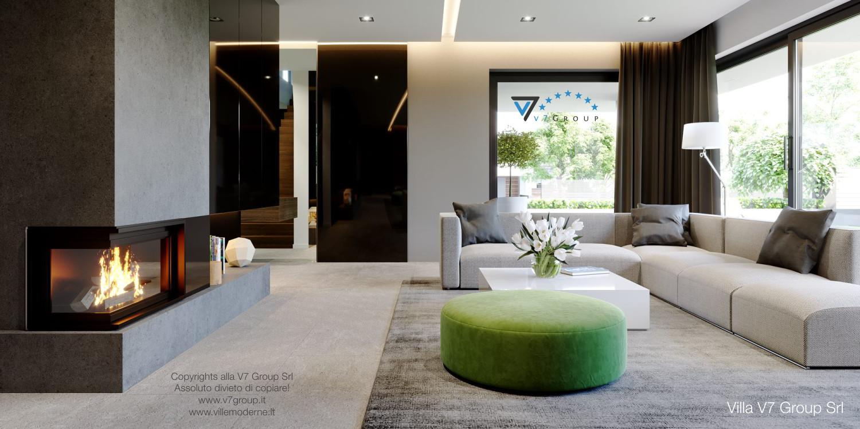 Immagine Villa V51 (progetto originale) - il design del soggiorno