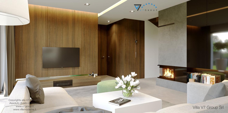 Immagine Villa V51 (progetto originale) - interno 5 - soggiorno e corridoio