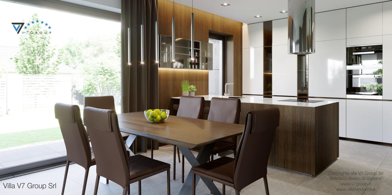 Immagine Villa V51 (progetto originale) - interno 9 - sala da pranzo e cucina