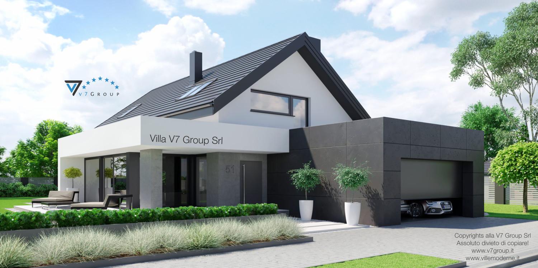 Immagine Villa V51 (progetto originale) - vista frontale grande