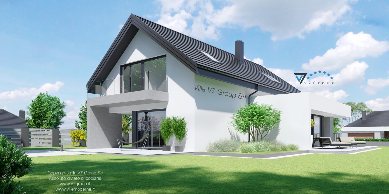 Immagine Villa V51 (progetto originale) - vista giardino grande