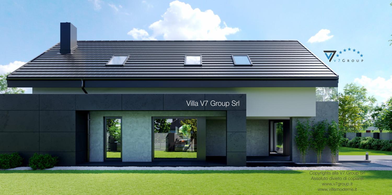 Immagine Villa V51 (progetto originale) - la parte laterale della villa