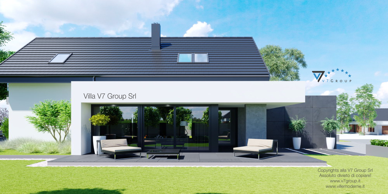 Immagine Villa V51 (progetto originale) - vista terazzo esterno laterale grande