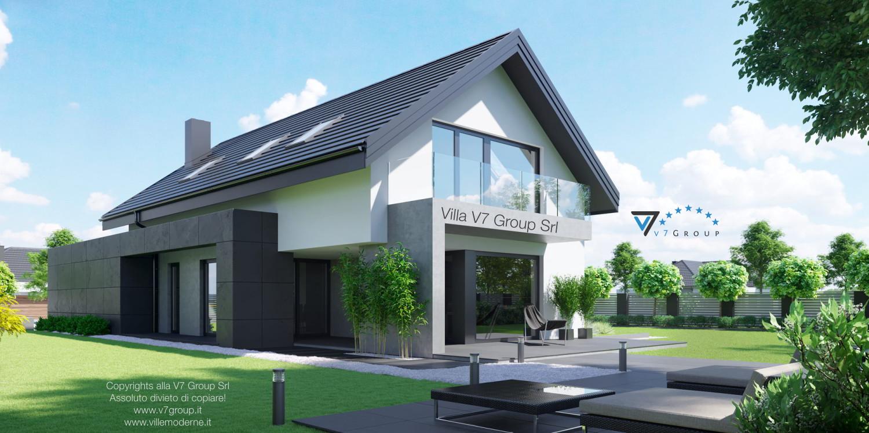 Immagine Villa V51 (progetto originale) - vista terrazzo esterno grande