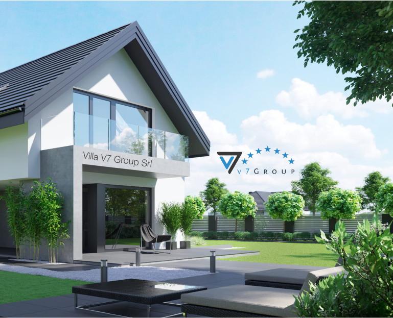 Immagine Villa V51 (progetto originale) - il terrazzo esterno ingrandito della villa