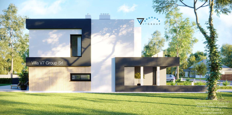 Immagine Villa V52 (B2) - vista laterale giardino grande