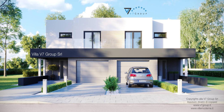 Immagine Villa V52 (D) - la parte frontale del garage e della casa