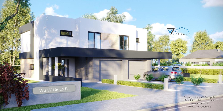 Immagine Villa V52 (D) - vista frontale laterale grande