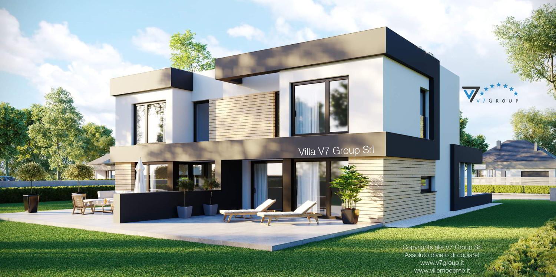 Immagine Villa V52 (D) - il terrazzo esterno di lato