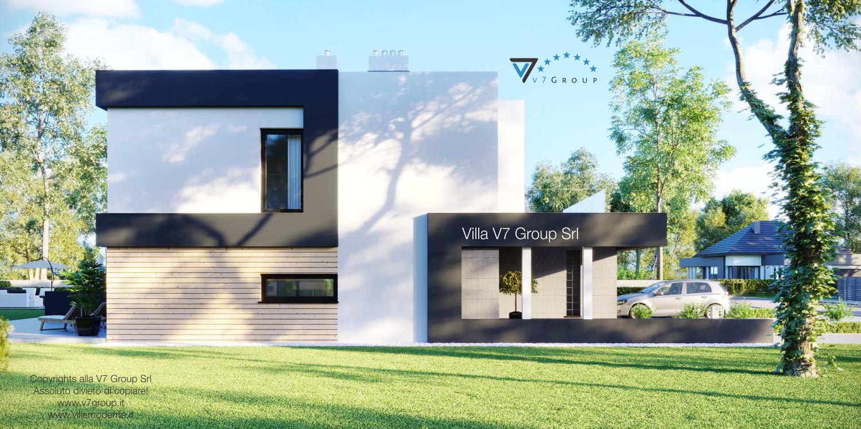 Immagine Villa V52 (D) - vista laterale giardino grande