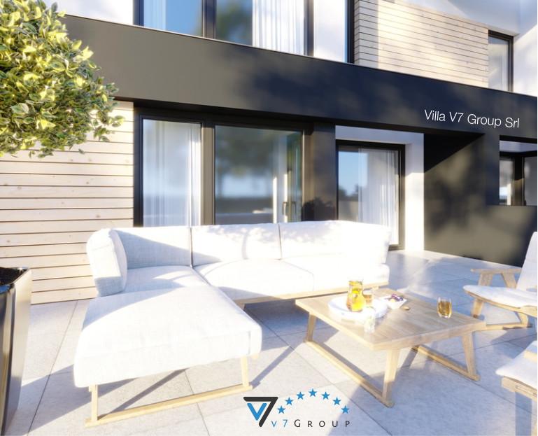 Immagine Villa V52 (D) - il terrazzo esterno con tavoli bianchi