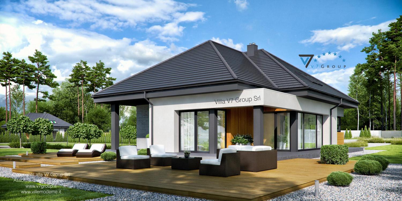 Immagine Villa V54 (progetto originale) - vista giardino grande