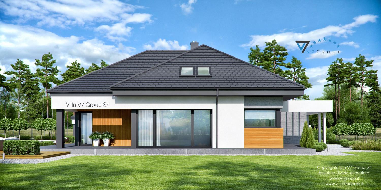 Immagine Villa V54 (progetto originale) - vista laterale grande