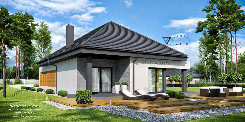 Immagine Villa V54 (progetto originale) - vista terrazzo esterno grande