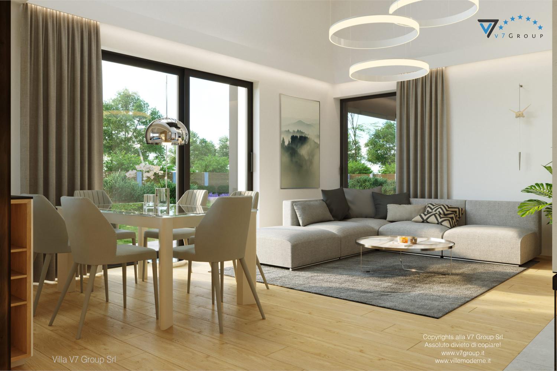 Immagine Villa V55 (progetto originale) - interno 1 - soggiorno
