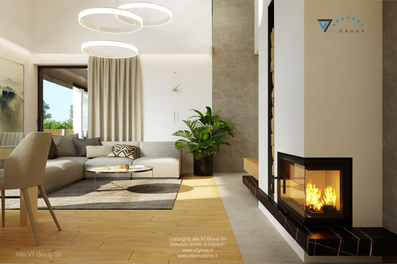 Immagine Villa V55 (progetto originale) - interno 2 - soggiorno