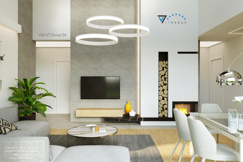Immagine Villa V55 (progetto originale) - interno 3 - soggiorno