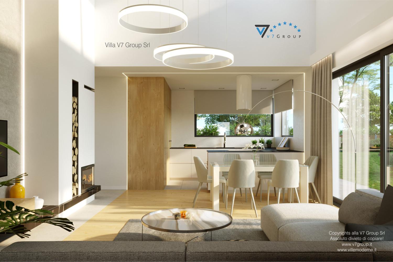 Immagine Villa V55 (progetto originale) - interno 4 - sala da pranzo e cucina