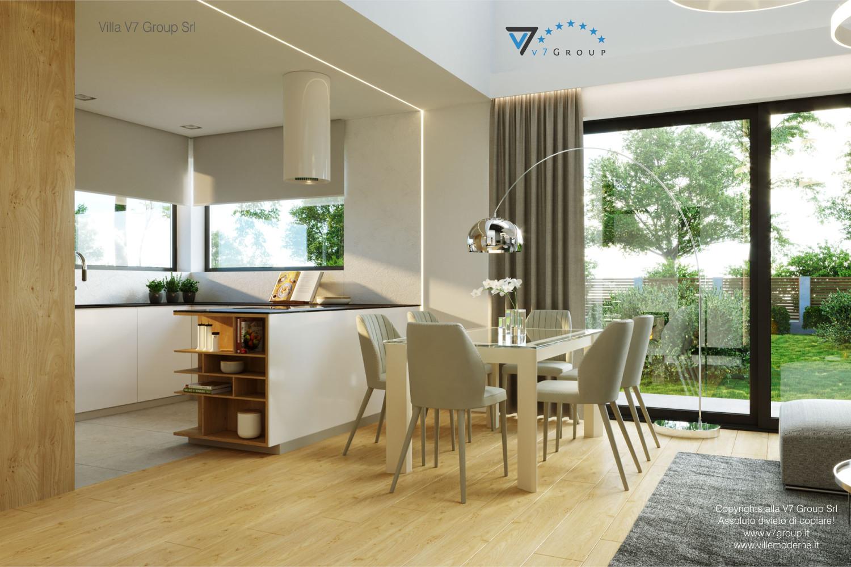 Immagine Villa V55 (progetto originale) - interno 5 - sala da pranzo e cucina