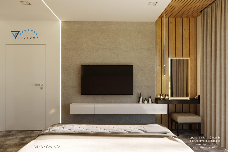 Immagine Villa V55 (progetto originale) - interno 8 - camera matrimoniale