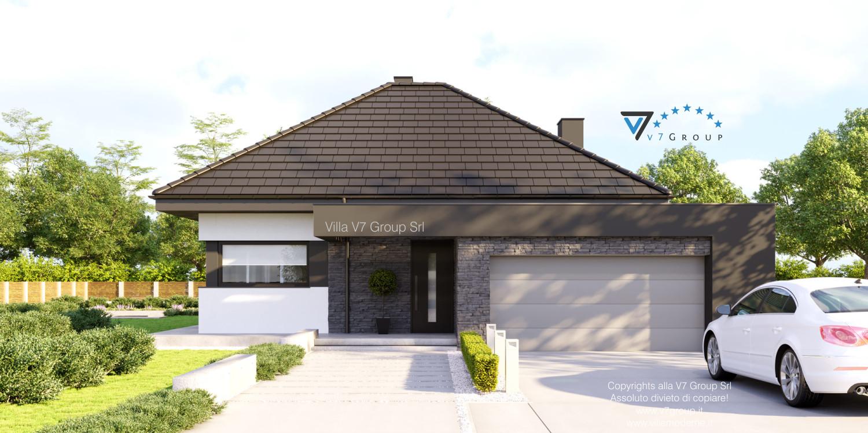 Immagine Villa V55 (progetto originale) - vista frontale grande